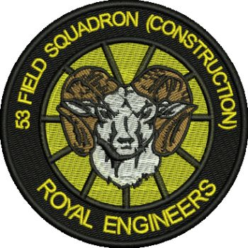 53 Fd Sqn Construction Embroidered badge